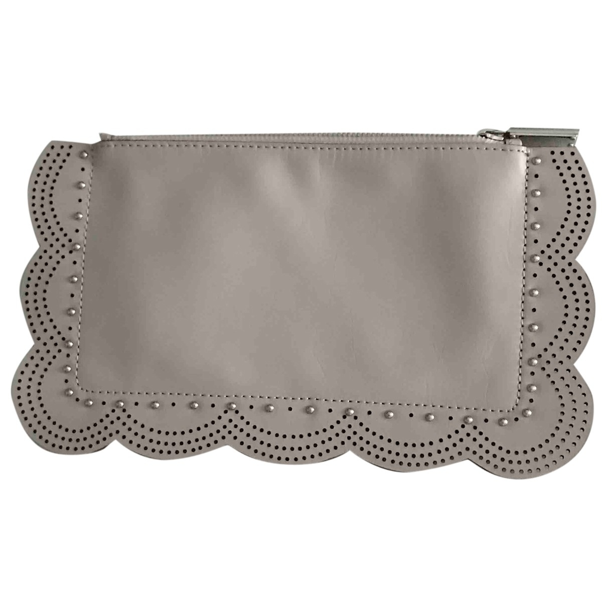 Bcbg Max Azria \N Grey Leather Purses, wallet & cases for Women \N