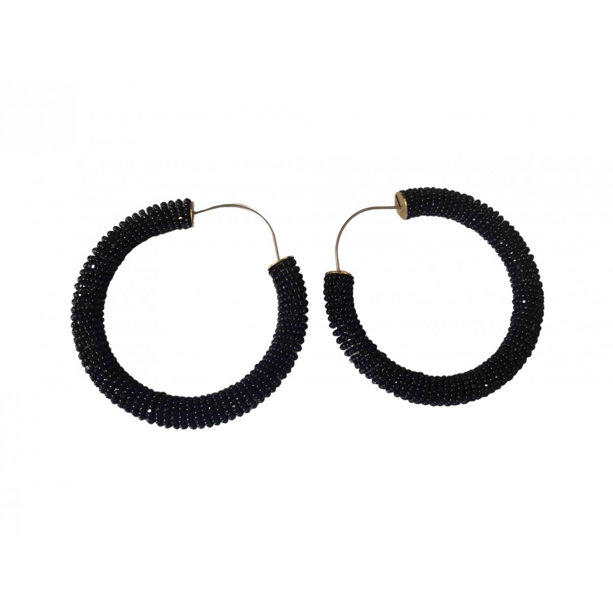 Celine - Boucles doreilles Hoop pour femme en acier - noir