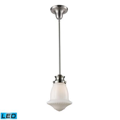 69029-1-LED Schoolhouse 1-Light Pendant in Satin Nickel -