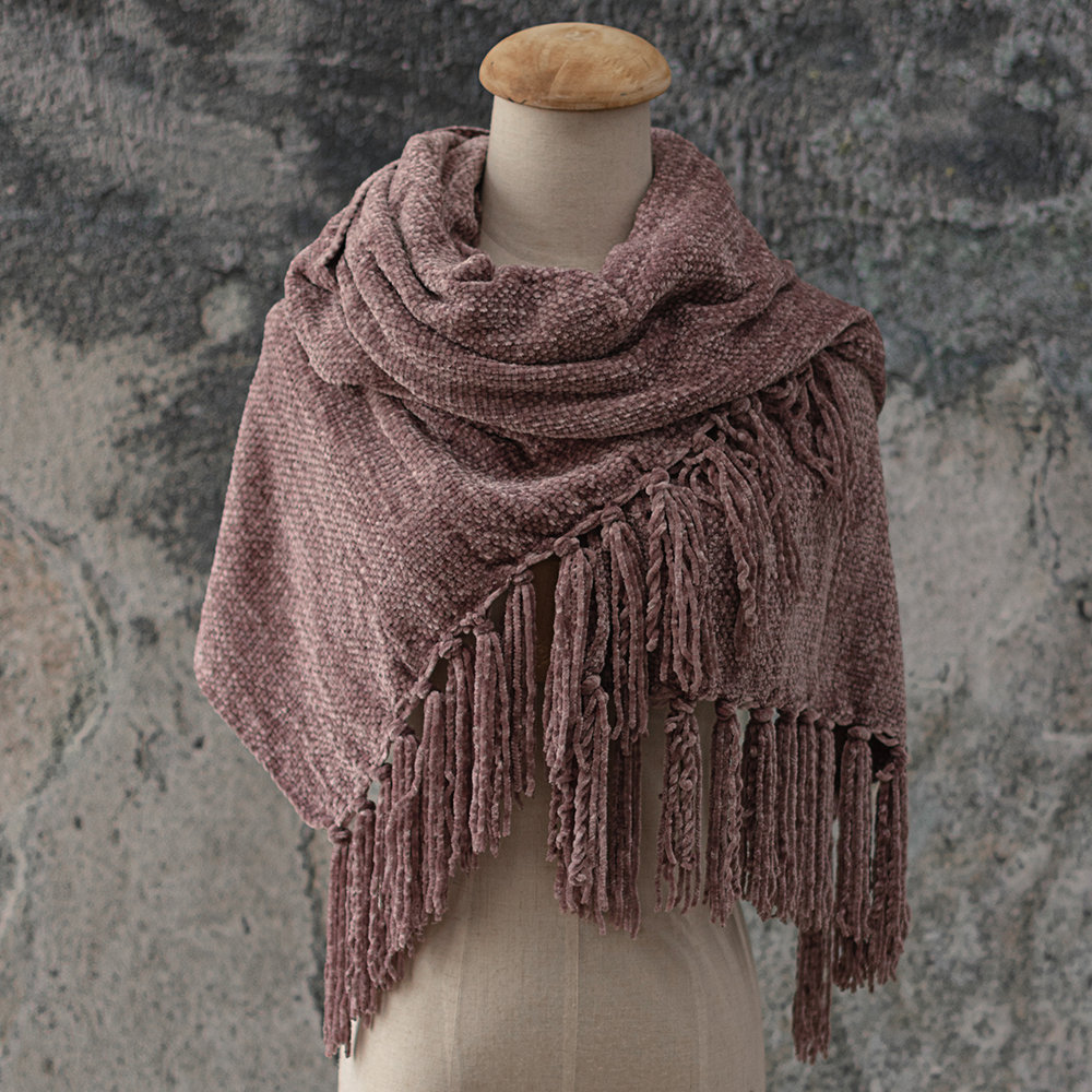 Women Scarf Chenille Soft And Comfortable Scarf Shawl Winter Shawl Wrap