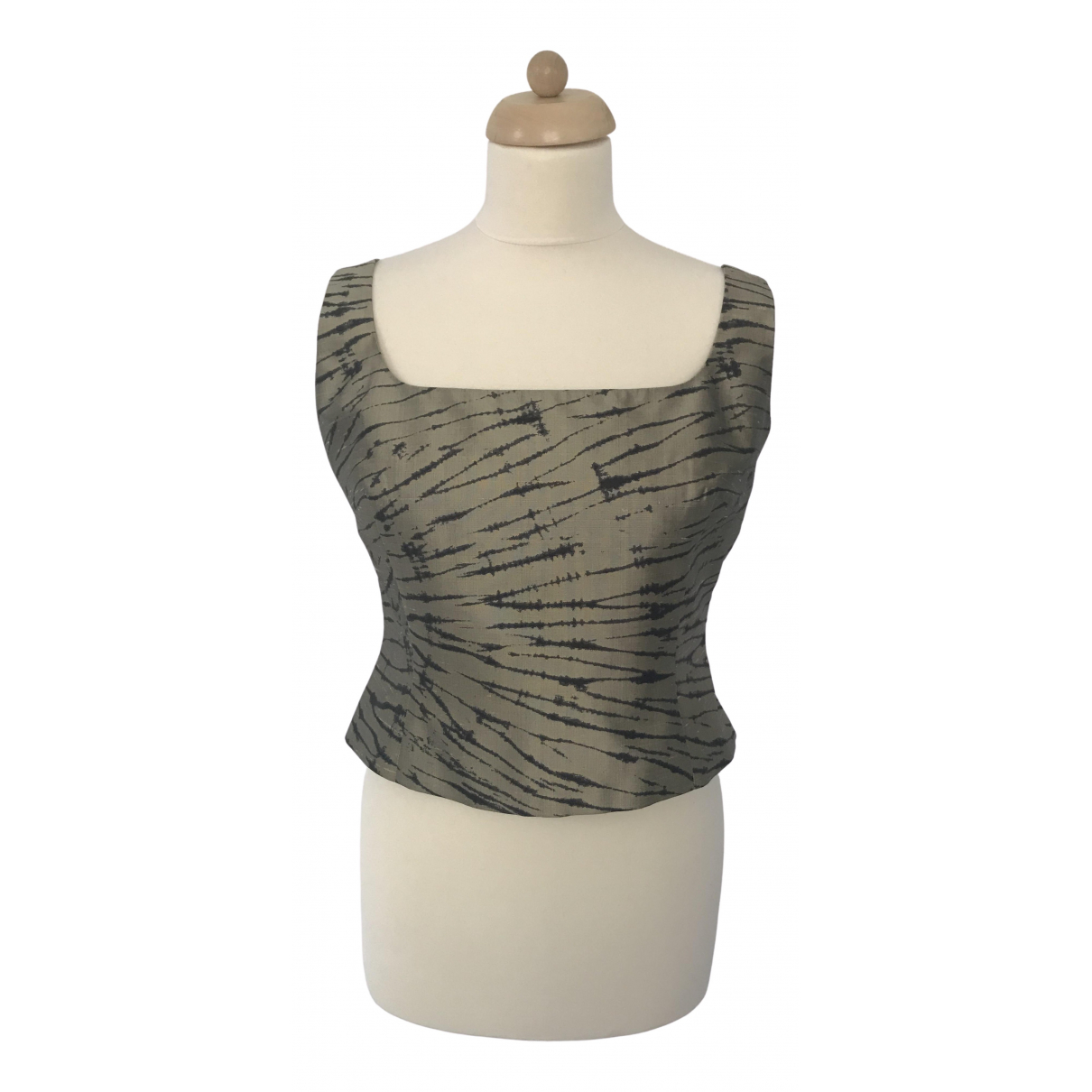 Laurel \N Khaki Silk  top for Women L International