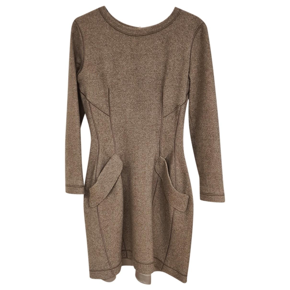 Ermanno Scervino - Robe   pour femme en laine - marron