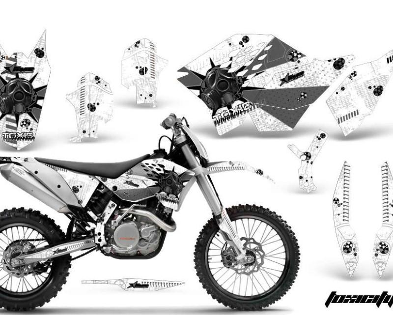 AMR Racing Dirt Bike Graphics Kit Decal Wrap For KTM SX/XCR-W/EXC/XC/XC-W/XCF-W 2007-2011áTOXIC BLACK WHITE