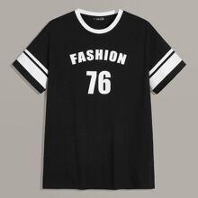 Camiseta de hombres con estampado de rayas