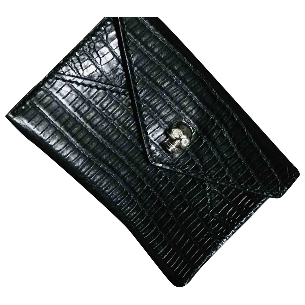 Alexander Mcqueen \N Black Leather Purses, wallet & cases for Women \N