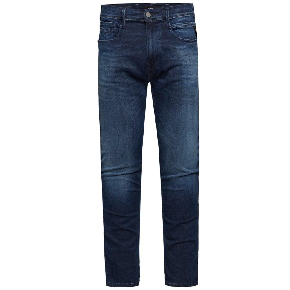 Replay Hyperflex Cloud Jeans Blue Colour: BLUE, Size: 30 32