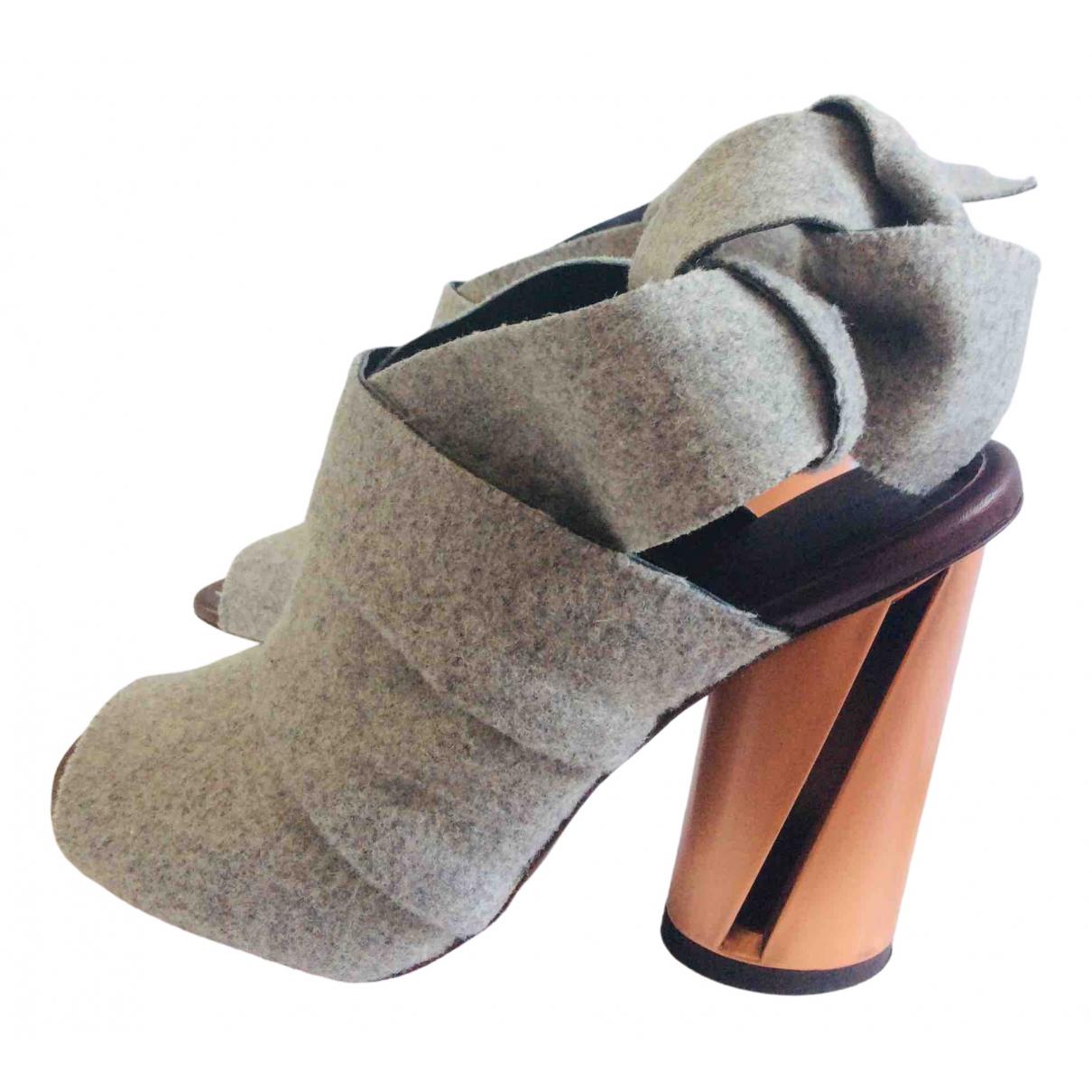 Proenza Schouler \N Sandalen in  Grau Leinen