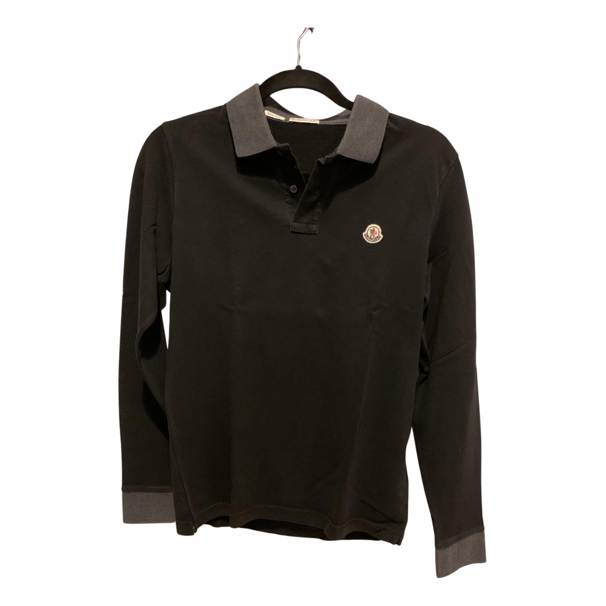 Moncler - Polos   pour homme en coton - noir
