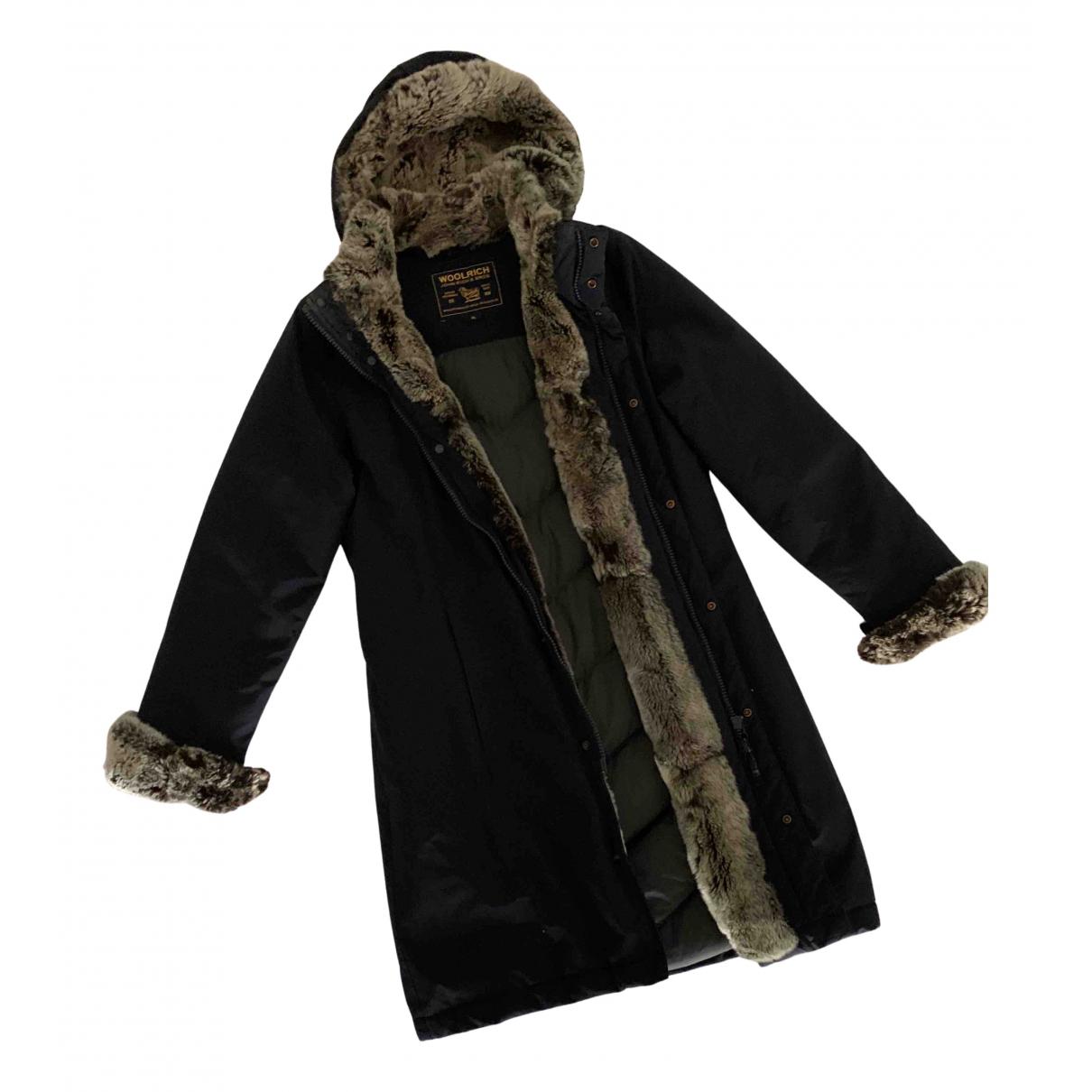 Woolrich - Manteau   pour femme en coton - bleu