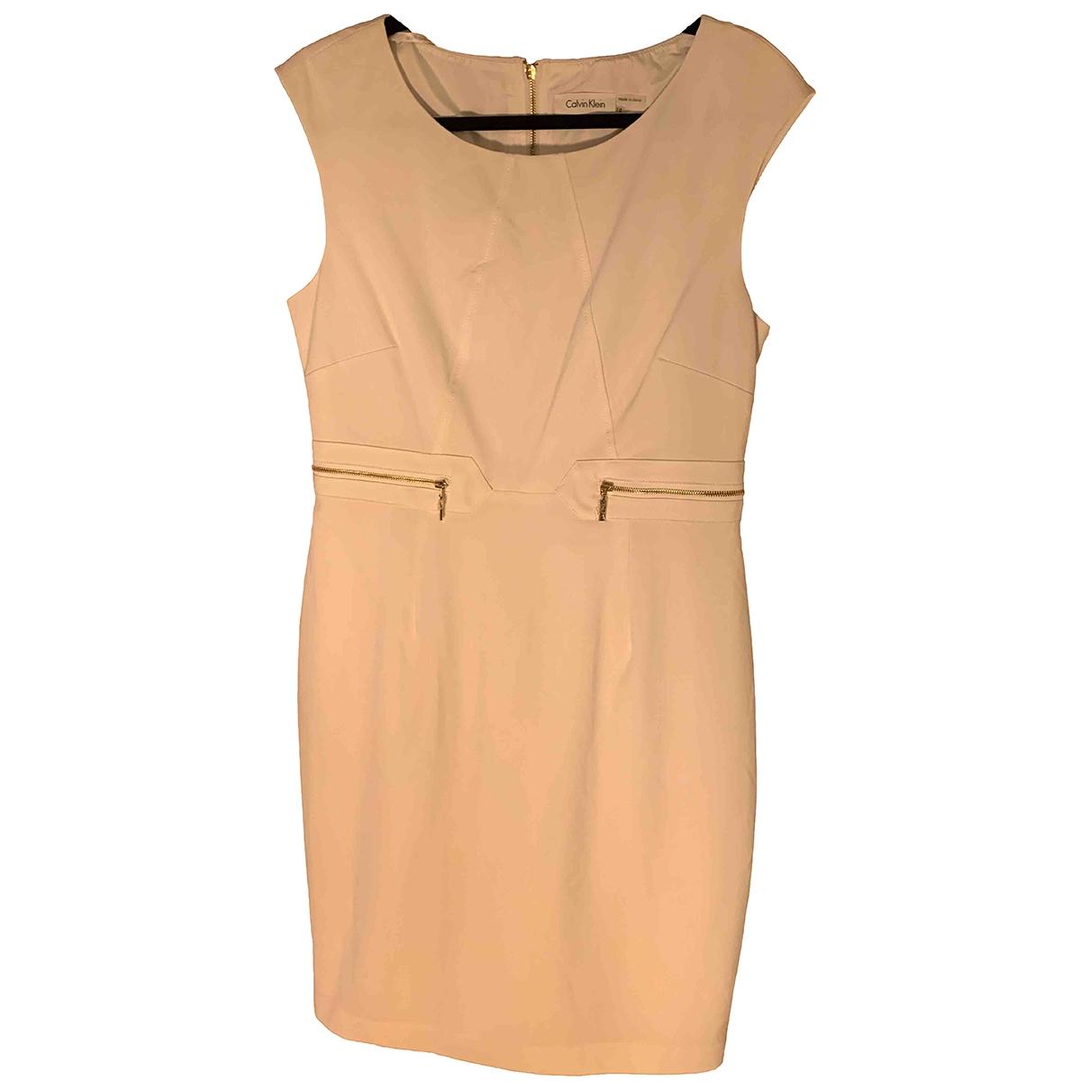 Calvin Klein \N Kleid in  Weiss Polyester