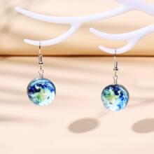 Round Decor Drop Earrings