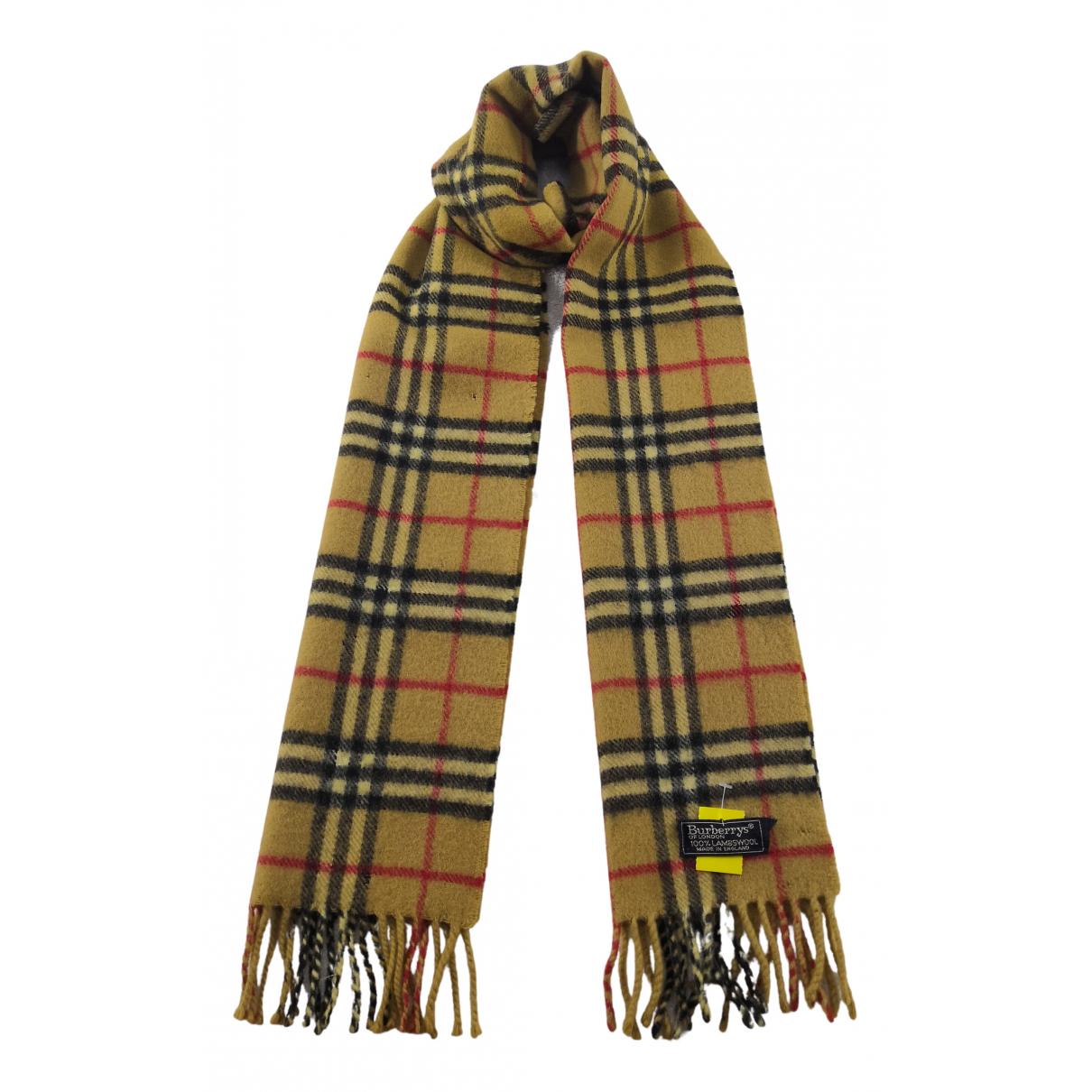 Burberry N Brown Wool scarf for Women N