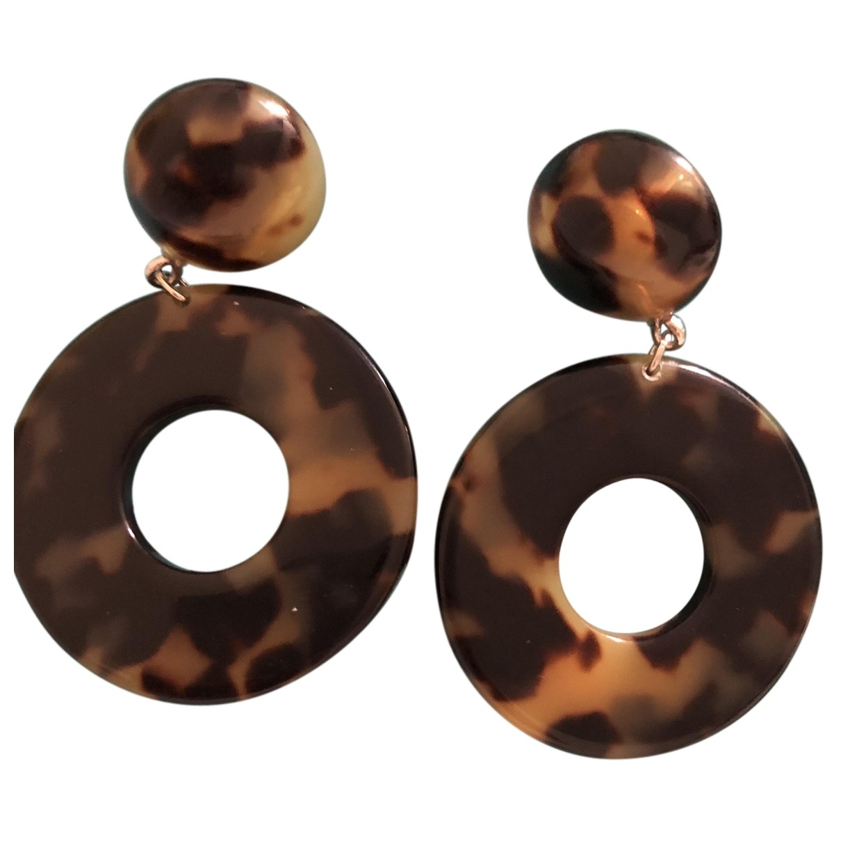 Non Signé / Unsigned \N Brown Earrings for Women \N