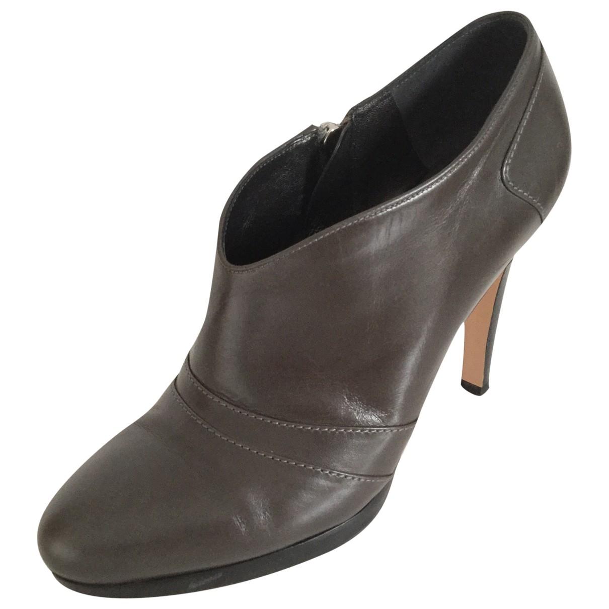 Gianvito Rossi - Boots   pour femme en cuir - gris