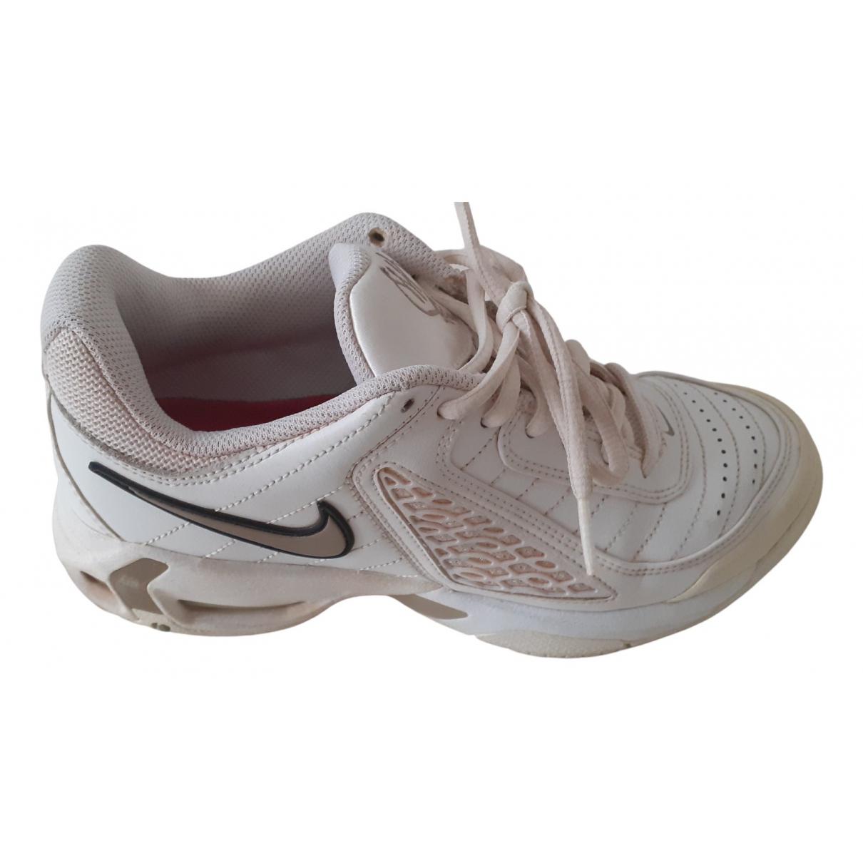 Nike - Baskets Air Max  pour femme en cuir - blanc