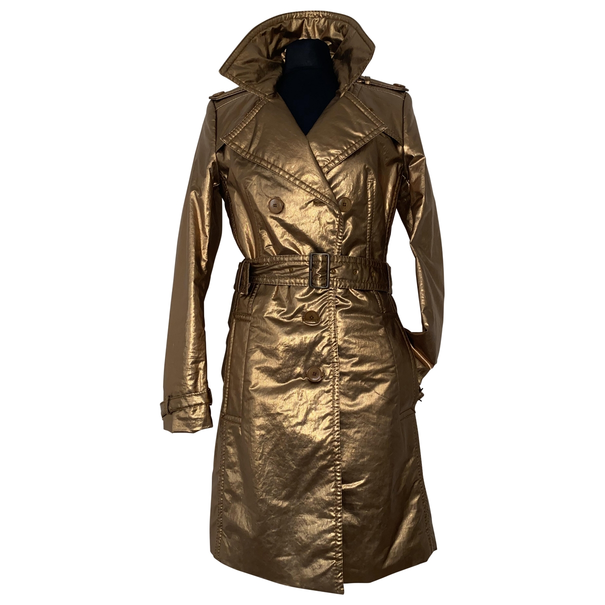 Drykorn \N Trench in  Gold Baumwolle