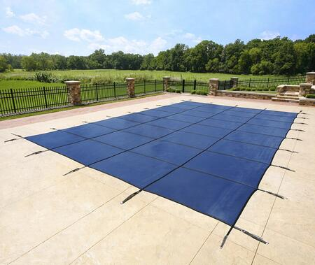 WS2140B Blue 20-Year Ultra Light Solid Safety Cover For 16' x 38' Rectangular Pool in
