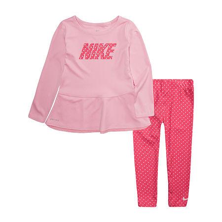 Nike Little Girls 2-pc. Legging Set, 6 , Pink