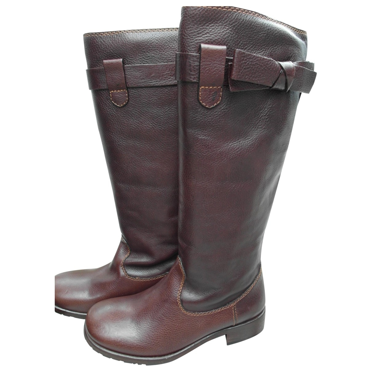 Moschino Cheap And Chic \N Stiefel in  Braun Leder