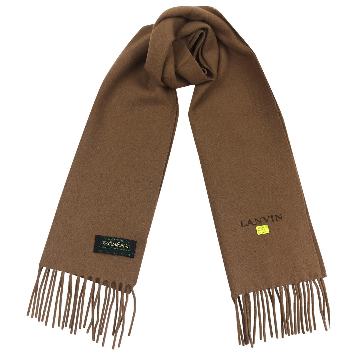 Lanvin - Cheches.Echarpes   pour homme en laine - marron