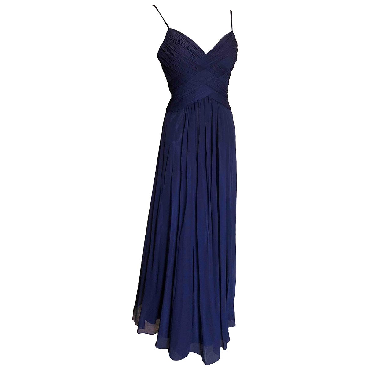 - Robe   pour femme en soie - marine