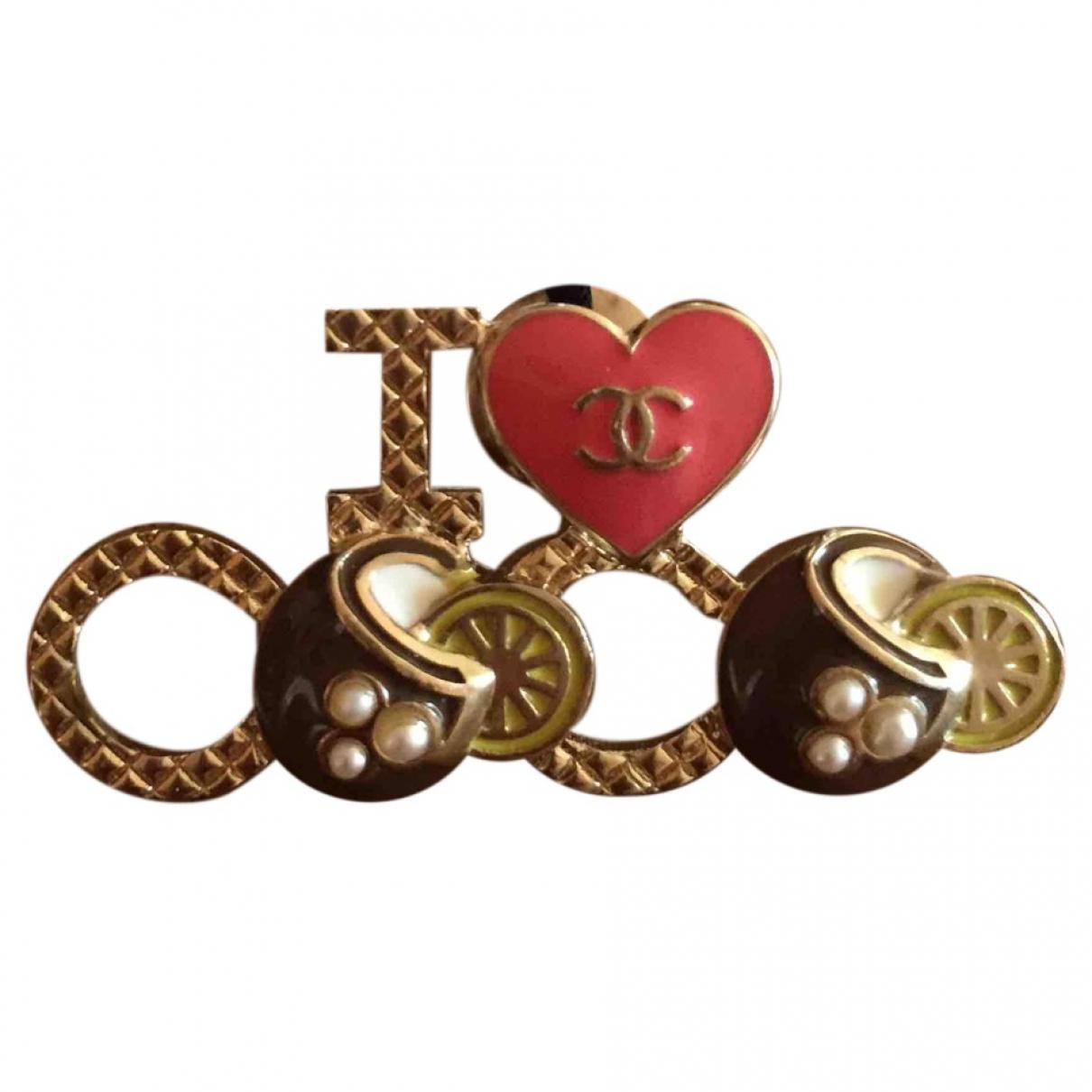 Chanel CC Brosche in  Bunt Metall