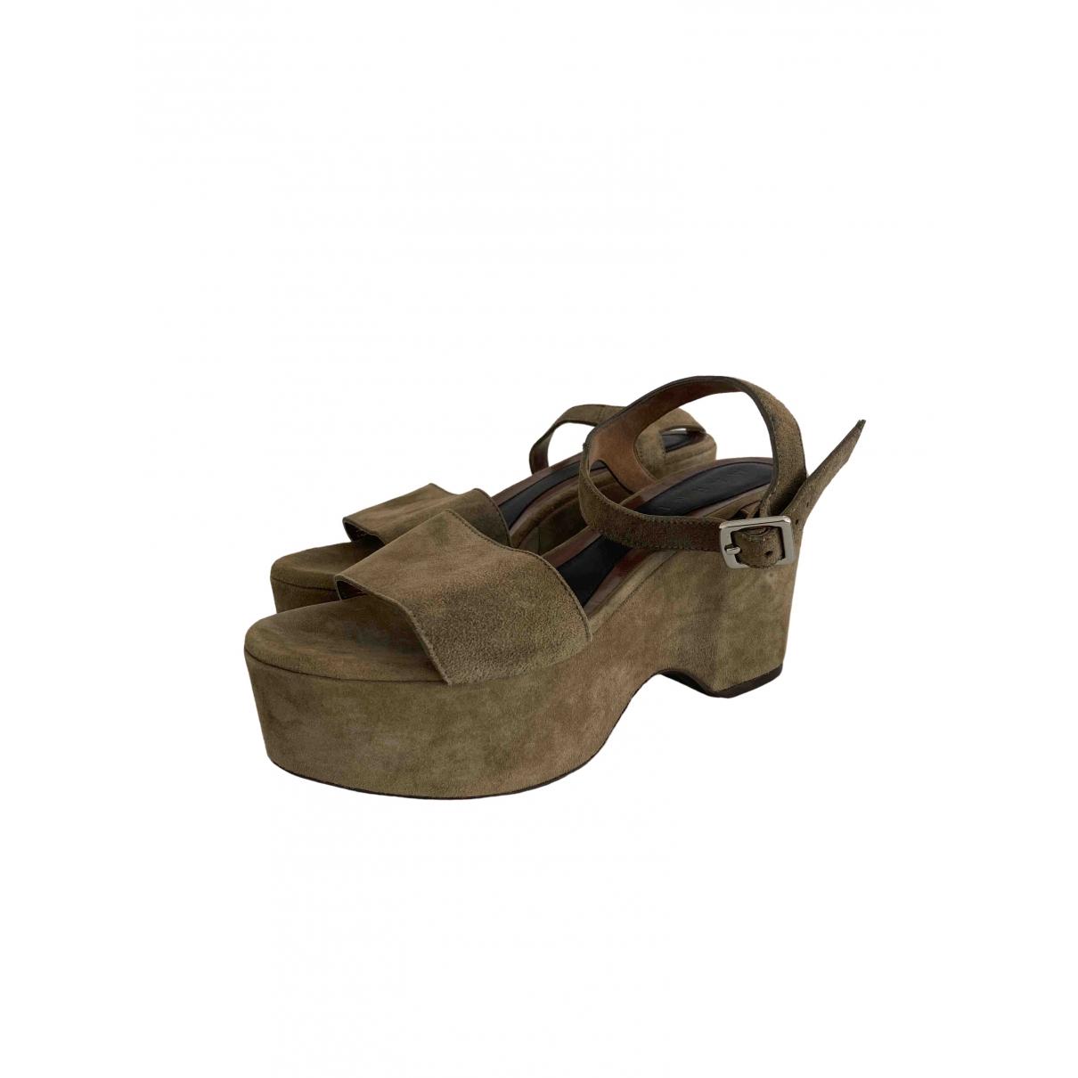 Marni \N Beige Suede Sandals for Women 39 EU