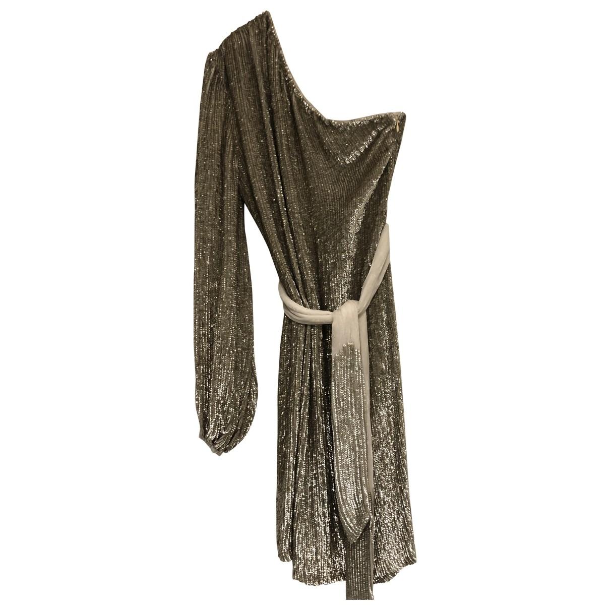 Retrofete \N Kleid in  Gold Viskose
