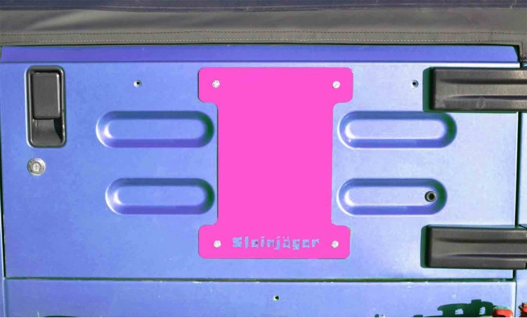 Steinjager J0046387 Spare Tire Carrier Delete Plate Wrangler TJ 1997-2006 Hot Pink