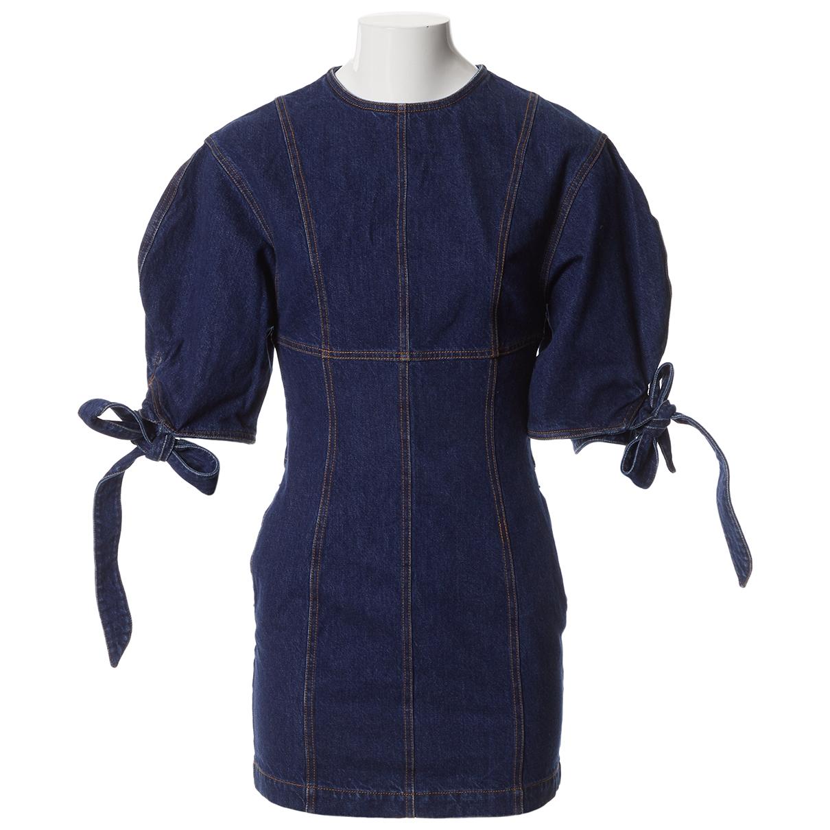 Attico \N Kleid in  Blau Baumwolle