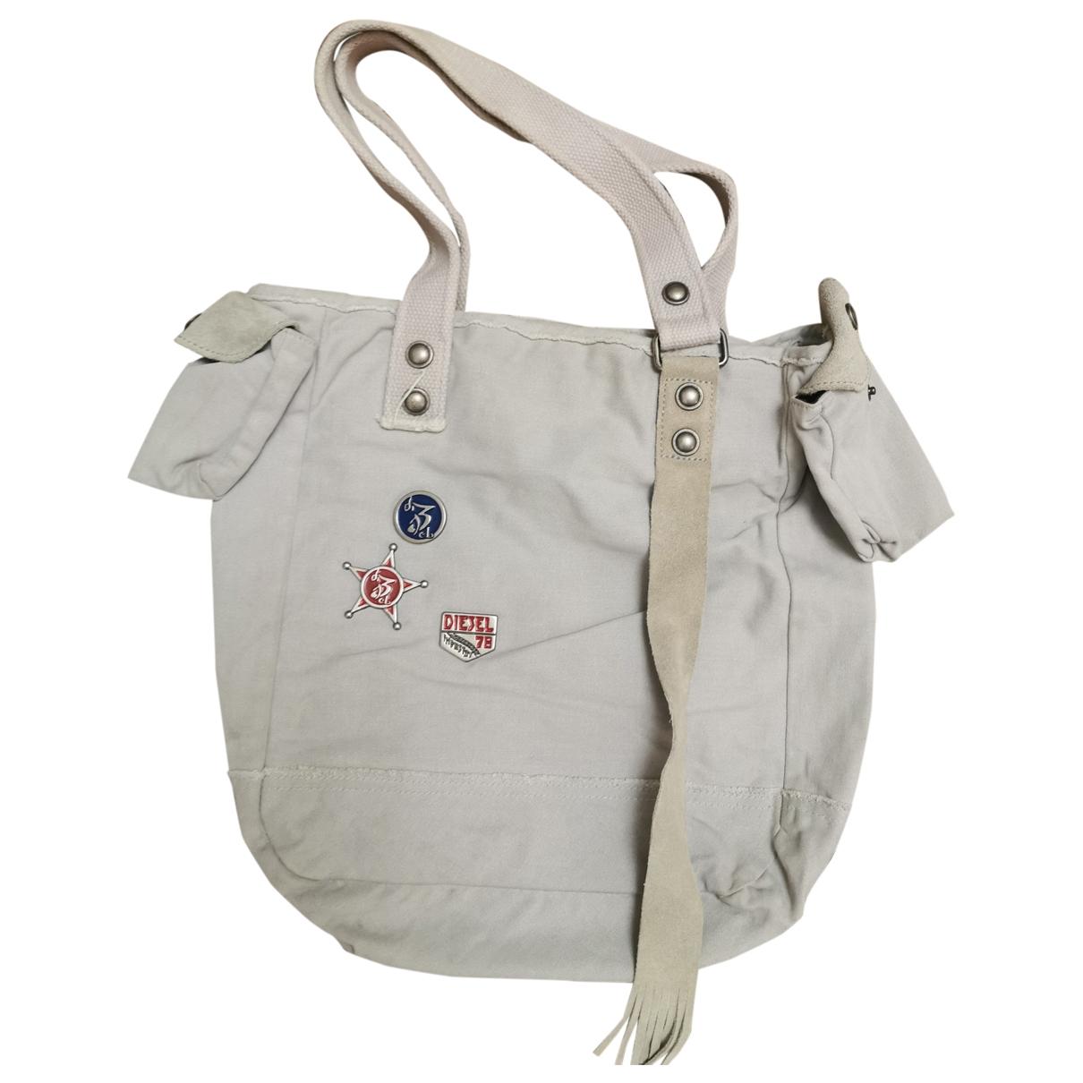 Diesel \N Handtasche in  Grau Baumwolle