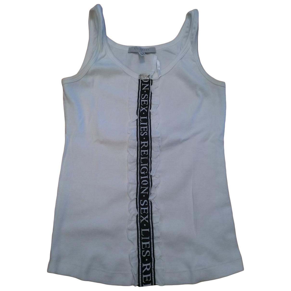 John Richmond - Top   pour femme en coton - blanc