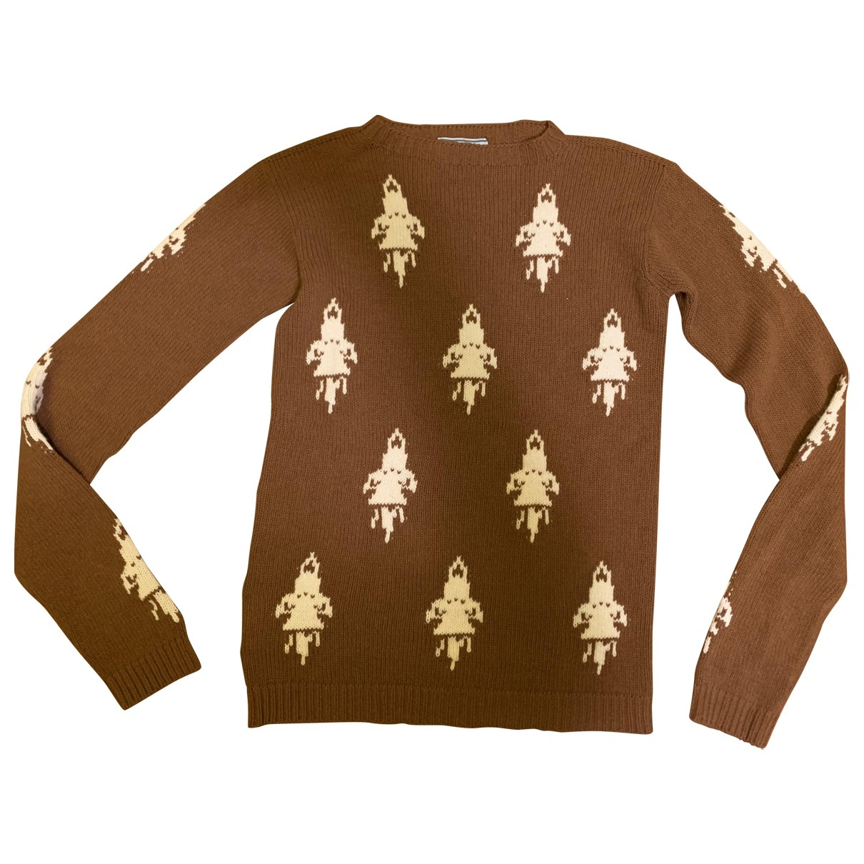 Prada \N Pullover in  Braun Wolle