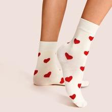 Herzmuster Unsichtbare Socken 1 Paar