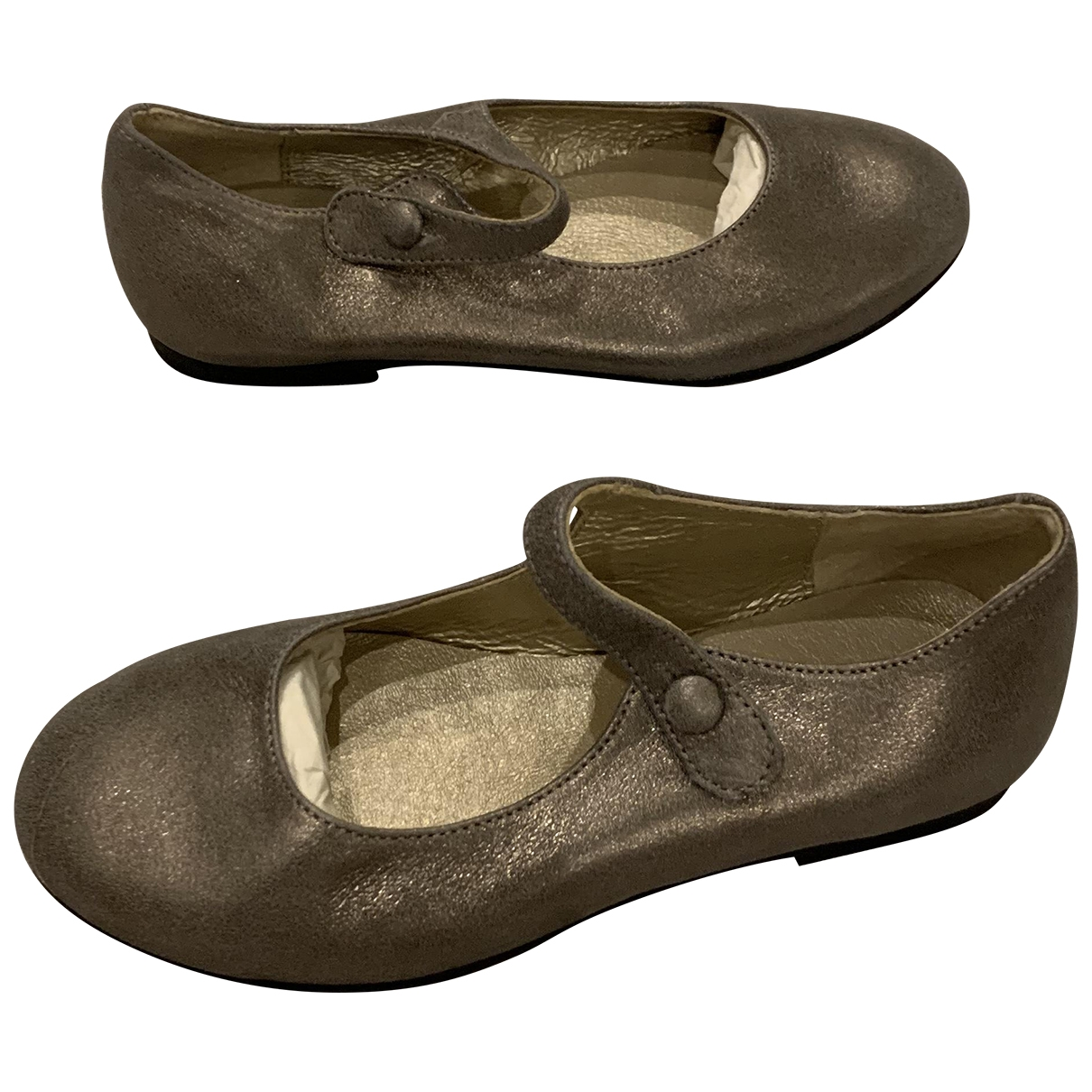 Bonpoint \N Metallic Leather Ballet flats for Kids 28 EU