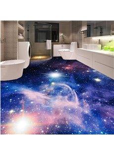Dreamy Creative Design Galaxy Print Home Decorative Waterproof 3D Floor Murals