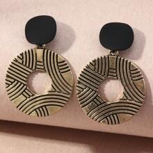 Texturierte runde Ohrringe