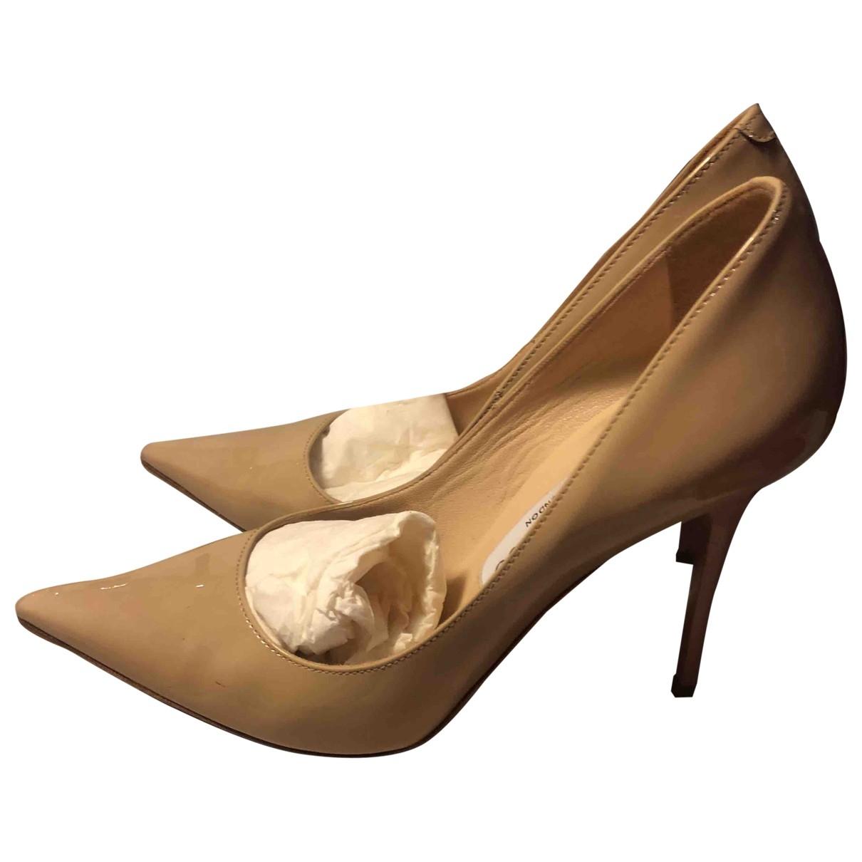 Jimmy Choo Anouk Beige Patent leather Heels for Women 36 EU
