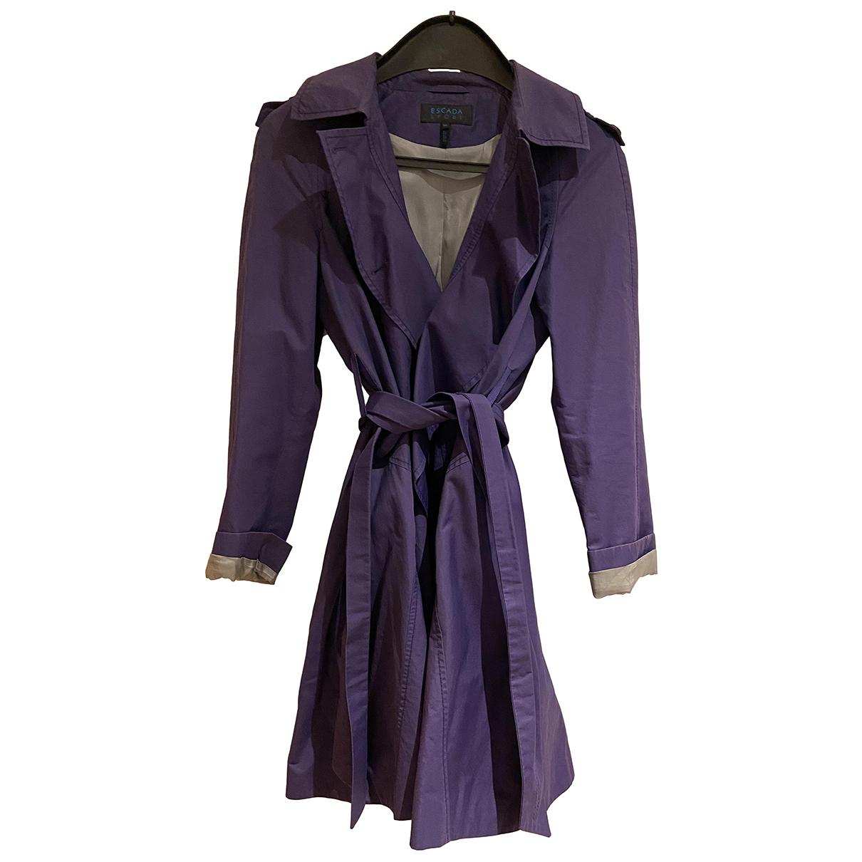 Escada N Purple Cotton coat for Women 8 UK