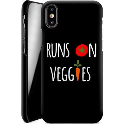 Apple iPhone X Smartphone Huelle - Runs on Veggies von caseable Designs