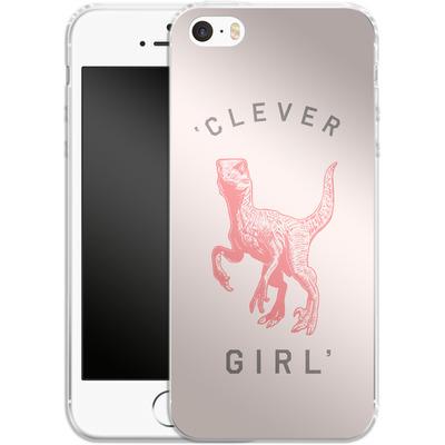Apple iPhone SE Silikon Handyhuelle - Clever Girl von Florent Bodart