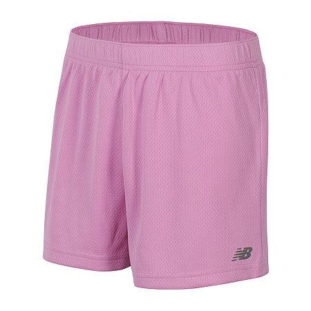 New Balance Big Girls Mid Rise Basketball Short, X-large (16) , Pink