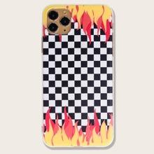 Plaid & Fire iPhone Case