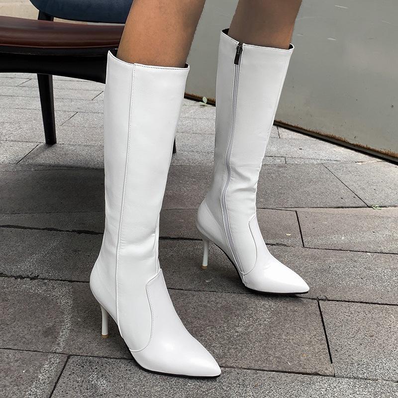 Ericdress Pointed Toe Stiletto Heel Plain Professional Boots