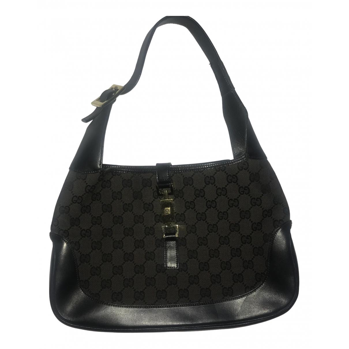Gucci Jackie Vintage  Handtasche in  Braun Leinen