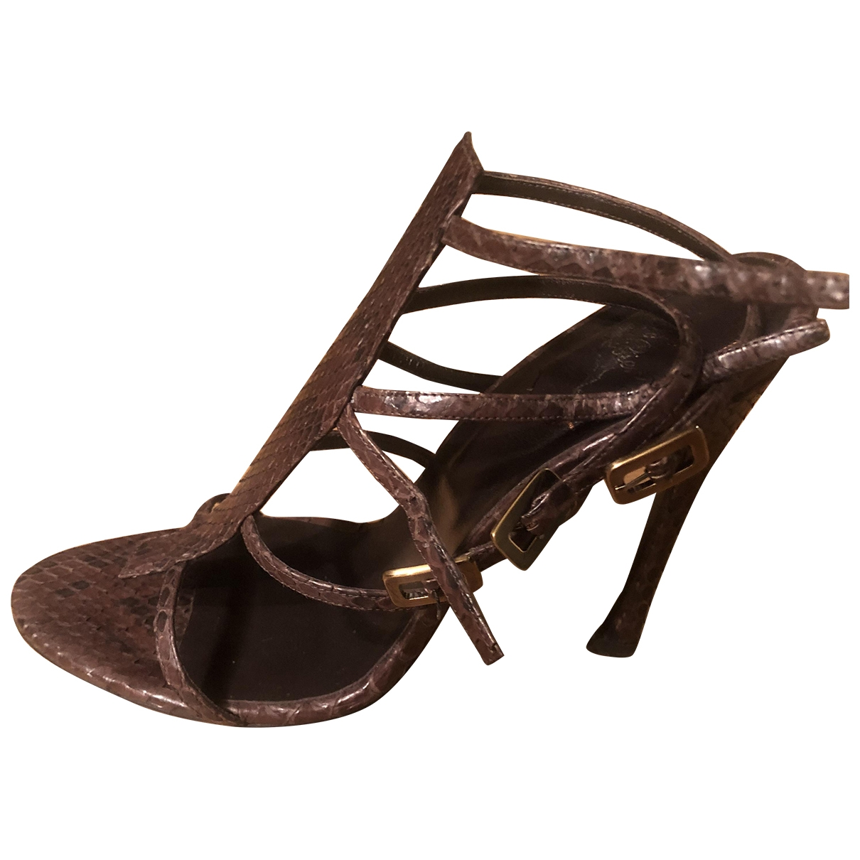 Roger Vivier \N Brown Python Sandals for Women 38 EU