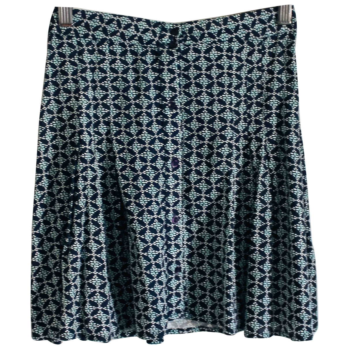 Non Signe / Unsigned \N Rocke in  Blau Polyester