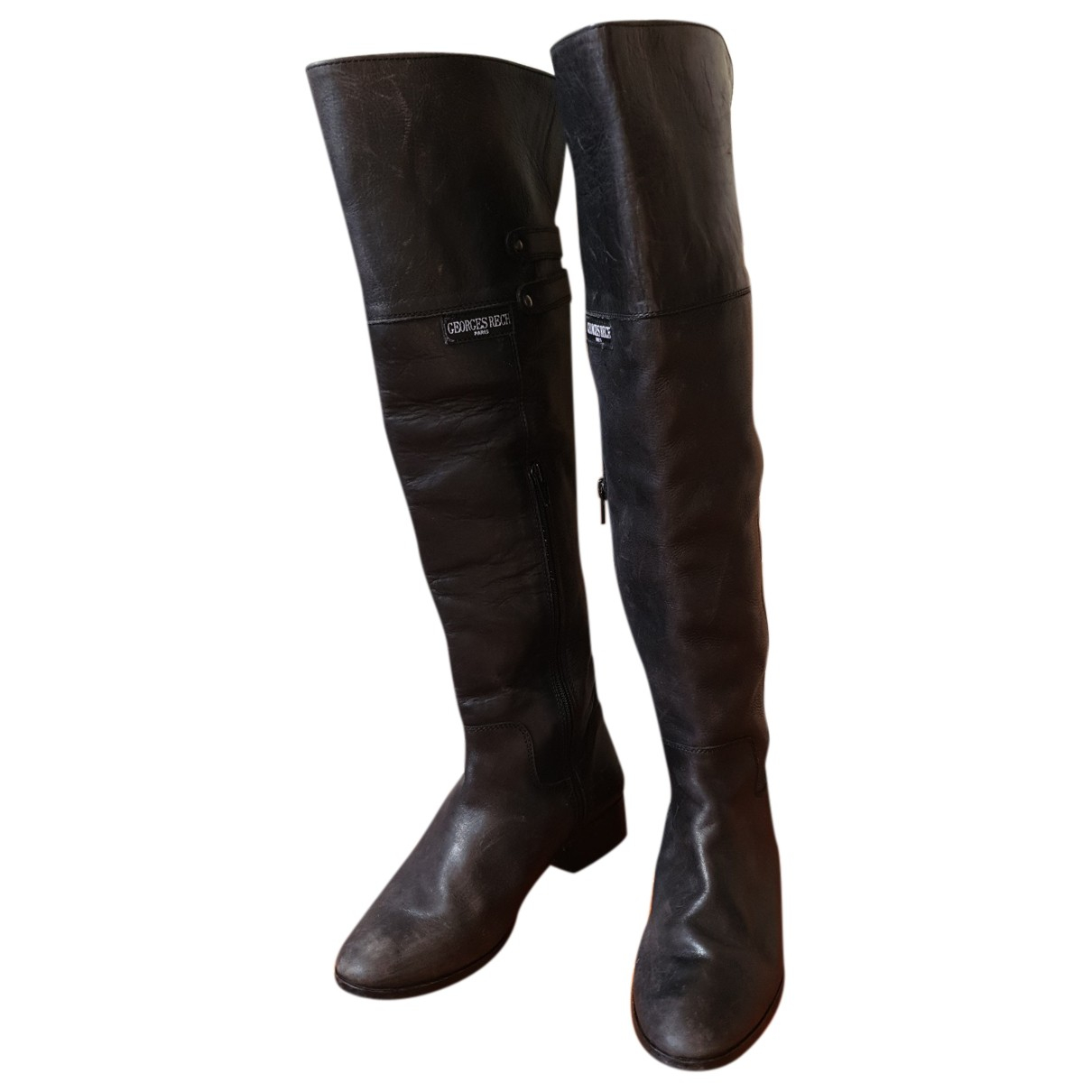 Georges Rech N Black Fur Boots for Women 38 EU