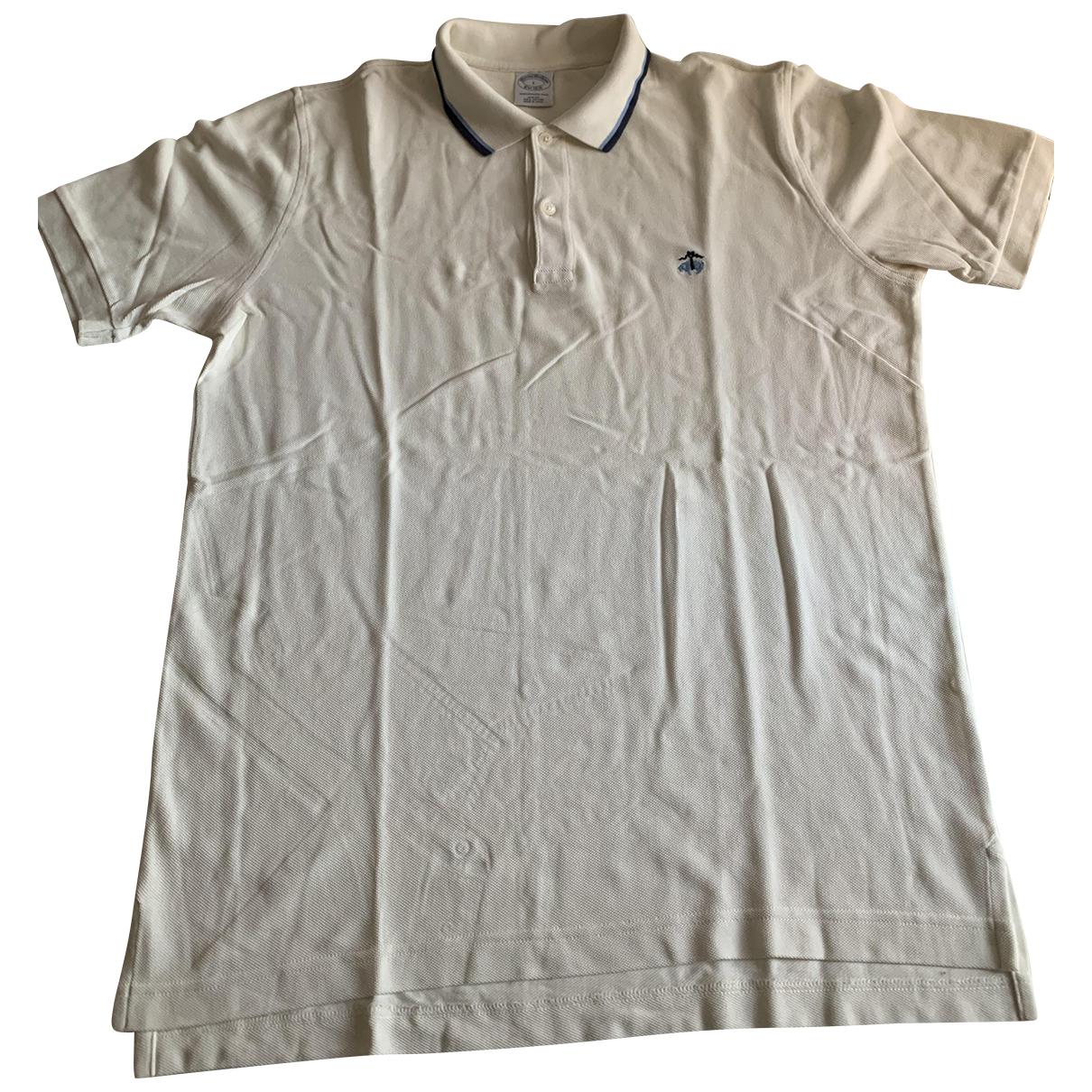 Brooks Brothers - Polos   pour homme en coton - blanc