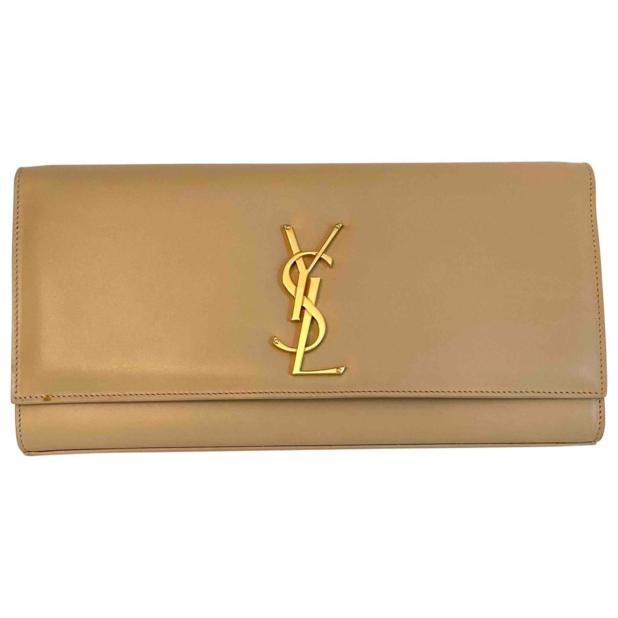 Saint Laurent Kate monogramme Beige Leather handbag for Women \N